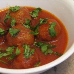 Cauliflower Balls Tomato-Soy Sauce