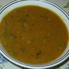South Indian Hot Toordal Soup with vegetables