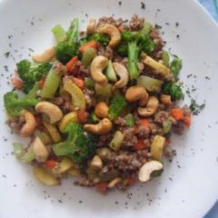 Kasha with vegetables