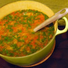 Mung Dal Soup with Tomatoes