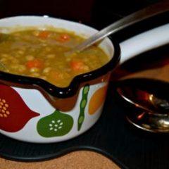 Nutritious Whole Grain, Split Pea and Vegetable Soup