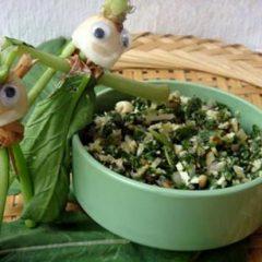 White Radish with Chopped Radish Greens