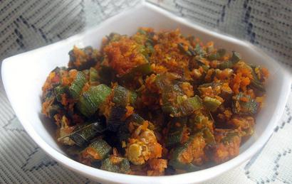Spicy Okra with Coconut