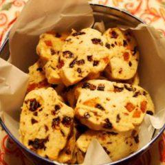 Xmas dried fruit cookies
