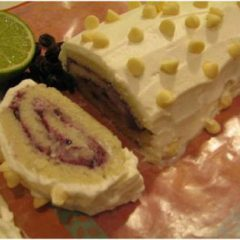 Blueberry Cream Swiss Roll