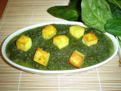 Spinach-Curd-Cheese-Palak-Paneer