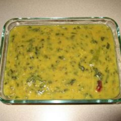 Creamy Mung Dal with Chopped Spinach