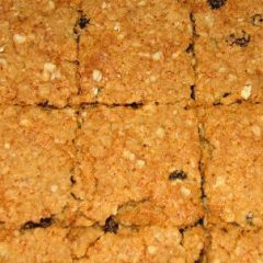 Chewy carob oatmeal squares