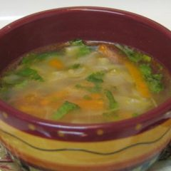 Clear Cabbage Carrot Soup