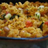 Flattened Rice Pilaf