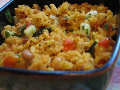 Flattened Rice Pilaf