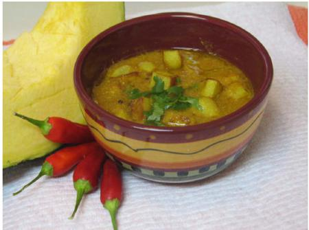 Potato Cubes in Pumpkin Curry
