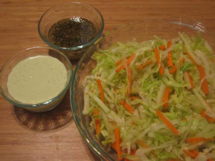 Salad with double dressing
