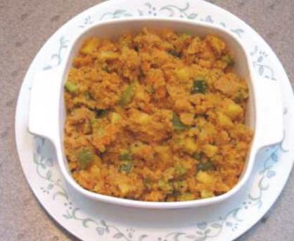 Semolina and vegetable pudding