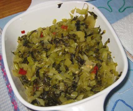 Spcied mustard greens