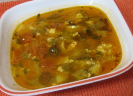 Vegetable and Paneer Cheese Soup