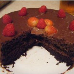 Best ever Carbo cake with carob frosting