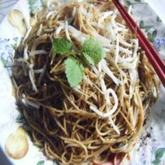 Noodles with Chinese Toon Sauce