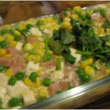 Sweet corn-peas and tofu