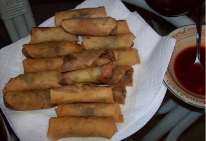 Spring Rolls with Tomato Dip