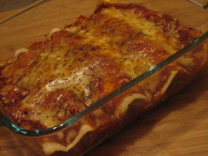Vegetable Stuffed Tortilla Rolls in Tomato Sauce