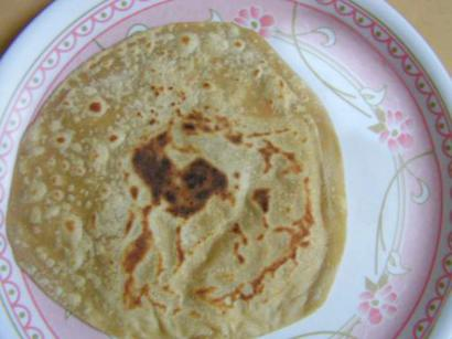 Banana Chapatis with Orange Cardamom Butter