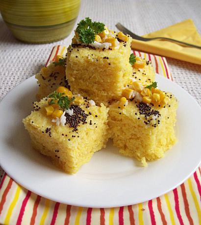 Corn Dhokla