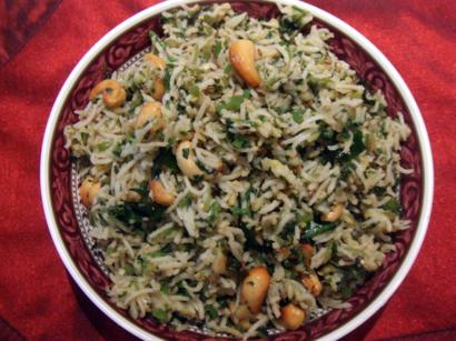 Spinach Masala Pongal