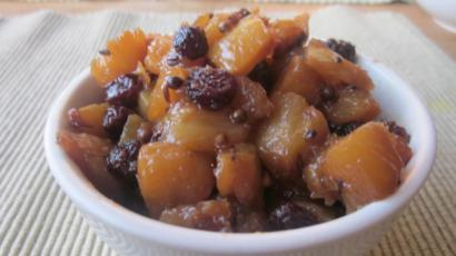 Fresh Pineapple and Raisin Chutney