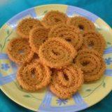 Munchy Chickpea Flour Spirals with Sesame Seeds