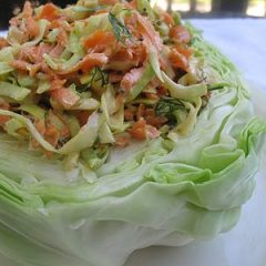 Whole Cabbage Stuffed with Carrot Coleslaw