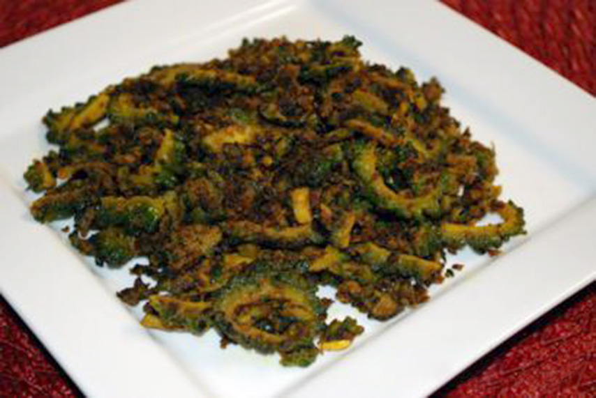 Fried Bitter Melon with Ground Almonds