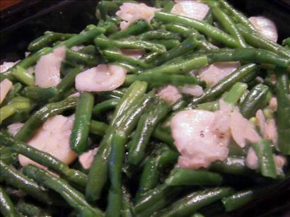 Green beans with Water Chestnuts