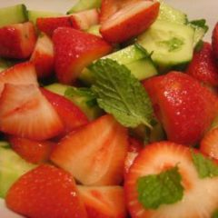 Minted Cucumbers and Strawberries