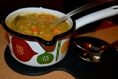 Nutritious Whole Grain, Split Pea and Vegetable Soup