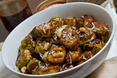 Sauteed Brussels Sprouts with Coconut