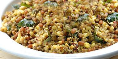 Sauteed Sprouted Mung Beans with Julienne ginger Root
