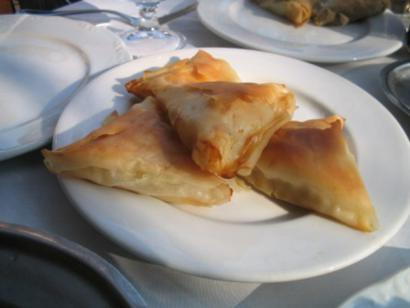 Cheesy Filo Parcels