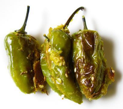 Deep Fried Stuffed Hot Green Chilies