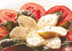 Tomato, Basil and Fresh Mozzarella Salad