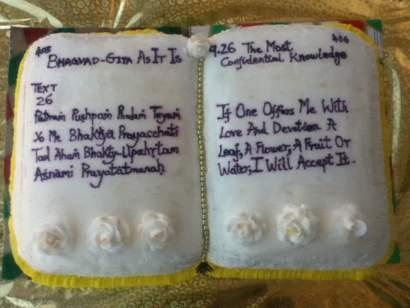 Bhagavad Gita Cake
