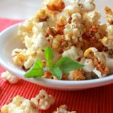 Sweet Crunchy Kettle Popcorn cooked in Ghee