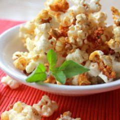 Sweet Crunchy Kettle Popcorn cooked in Ghee