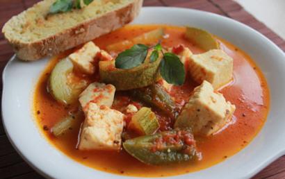 Easy Chunky Tomato Jalapeno Paneer Soup