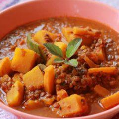 Sweet Potato and Pasilla Chile Dal