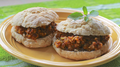 Vegetable Paneer Sloppy Joes Sandwich