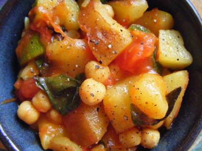 Tomato, Potato, Zucchini Stew