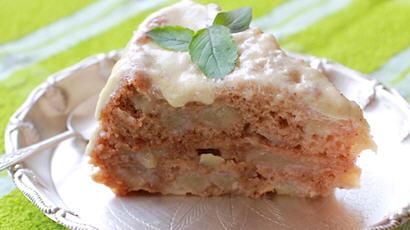 Moist Apple Cake with Honey-Cinnamon Frosting