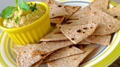 Healthy Baked Chapati Chips