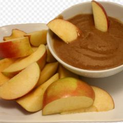 Caramel sauce dipping with fresh fruits